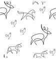 farm animal pattern seamless vector image
