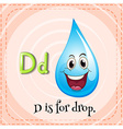 Flashcard letter D is for drop vector image vector image