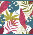 floral trendy seamless pattern with tropical vector image vector image