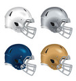 Football helmets with gray facemasks vector image vector image