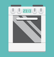 gas stove flat icon kitchen and appliance vector image