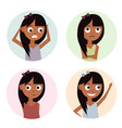 girls set isolated on white vector image vector image