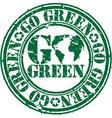 Go Green stamp vector image vector image