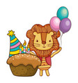 happy birthday cute animal vector image vector image