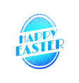 happy easter vintage festive label vector image vector image