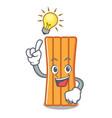 have an idea air mattress mascot cartoon vector image