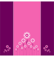 Heart Flowers background or card vector image