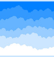 horizontal seamless clouds skyline repeat texture vector image