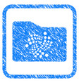 iota folder framed stamp vector image vector image
