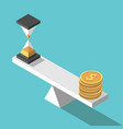 isometric time money balance vector image vector image