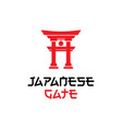 japanese gate logo design inspiration vector image vector image