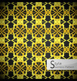lotus floral mesh gold vintage geometric seamless vector image vector image