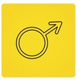 Male icon Gentlemen sexuality sign vector image