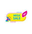 mega sale 50 off megaphone with bubble speech vector image vector image