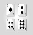 poker clover cards game risk fortune icon vector image vector image