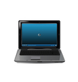realistic laptop vector image vector image