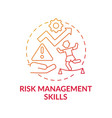 risk management skills red gradient concept icon vector image vector image