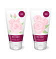 rose cosmetics white tube vector image