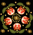 seamless floral pattern with ornamental flowers vector image