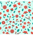 Seamless pattern red fowers vector image vector image
