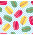 Seamless pattern with french sweet macaroons vector image vector image