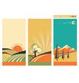 set banners nature landscape collection vector image