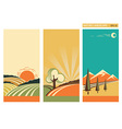 set of banners nature landscape collection vector image vector image