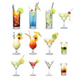 set of cocktails vector image vector image