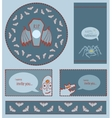 Set of Halloween templates vector image