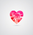 Shiny Rose Heart for Valentines Day vector image vector image