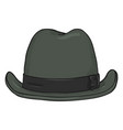 single cartoon classic homburg hat front view vector image vector image