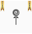Spiral candy flat icon vector image