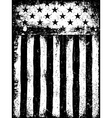 Stars and Stripes Monochrome Negative Photocopy vector image vector image