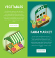 street farm market food counter vector image vector image