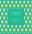 summer party invitation template with ice cream vector image