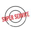 super service rubber stamp vector image vector image