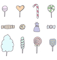 Sweets and candies vector image