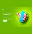 target landing page arrow up banner business 3d vector image