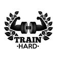 train hard vector image