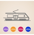 train icons vector image vector image