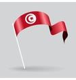Tunisian wavy flag vector image vector image