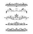 vintage ornamental dividers typographic vector image vector image