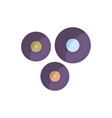 vynil disks icon vector image