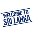 welcome to sri lanka stamp vector image vector image