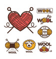wool labels or logo for pure 100 percent natural vector image vector image