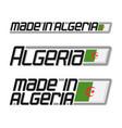 made in algeria vector image
