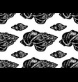 seamless pattern with hand drawn seashells vector image