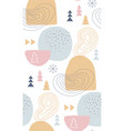 abstract winter seamless patterns in pastel colors vector image vector image