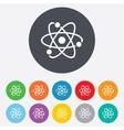 Atom sign icon Atom part symbol vector image vector image