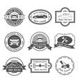 Auto service labels vector image